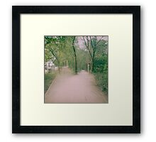 Double Paths Framed Print