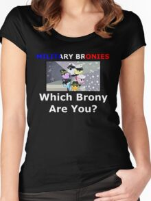 Military Bronies: Which Brony Are You? Women's Fitted Scoop T-Shirt