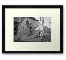 Streets of Kadifekale Neighborhood in Izmir, Turkey Framed Print