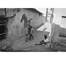 Streets of Kadifekale Neighborhood in Izmir, Turkey Photographic Print