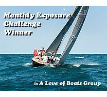 Challenge Banner Photographic Print