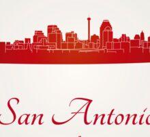 San Antonio skyline in red Sticker