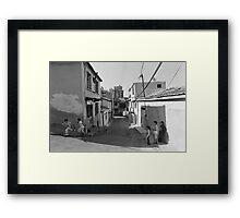 Children Playing on the Street in Izmir Turkey Framed Print
