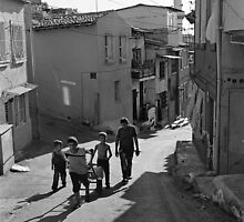 A Group of Children in Kadifekale District in Izmir, Turkey by Ilker Goksen