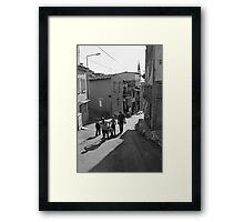 A Group of Children in Kadifekale District in Izmir, Turkey Framed Print