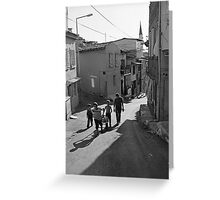 A Group of Children in Kadifekale District in Izmir, Turkey Greeting Card