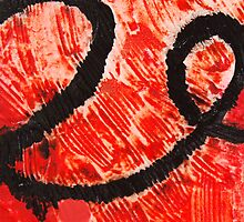 Strength - Red and Black Abstract Art by Sharon Cummings