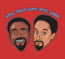 Evil Troy and Evil Abed by SJ-Graphics