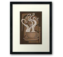 Coffee Nouveau Framed Print