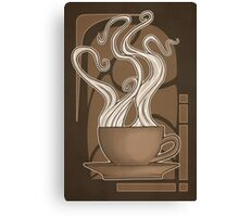 Coffee Nouveau Canvas Print