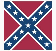 Confederate Rebel Flag Dixie Square Pure & Simple by TOM HILL - Designer