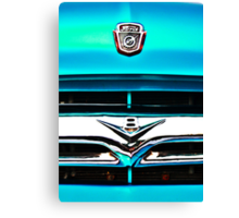 Blue Ford F100 truck V8 emblem Canvas Print