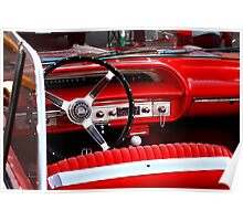 Red Chevy dashboard Poster