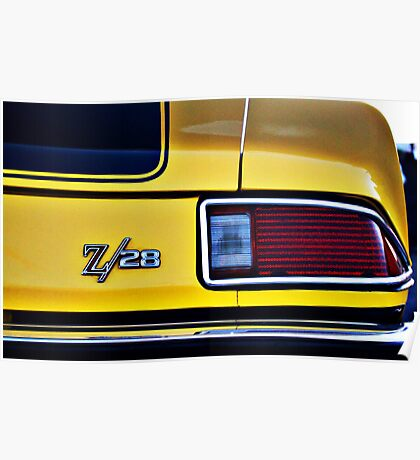 Camaro Z/28 tail light Poster