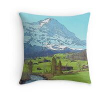 Calm Blue River (Watercolor) Throw Pillow