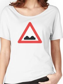 Warning breasts Women's Relaxed Fit T-Shirt