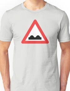 Warning breasts Unisex T-Shirt