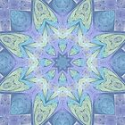 Faded Fracal Kaleidoscope for iPhone, iPod by Lyle Hatch