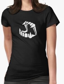 Glow in the dark Dracula Womens Fitted T-Shirt