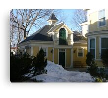 And the carriage house Canvas Print