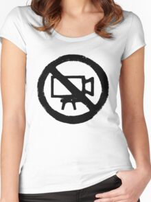 No Camera Women's Fitted Scoop T-Shirt