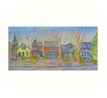 Houses of Cabbagetown, Toronto Art Print