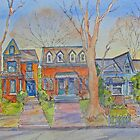Houses of Cabbagetown, Toronto by bevmorgan