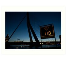 Erasmus bridge Art Print