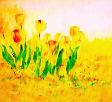 Tulips in Springtime'... by Valerie Anne Kelly