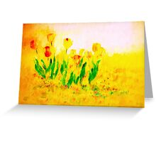 Tulips in Springtime'... Greeting Card