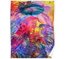 Psychedelic angel corpes Poster