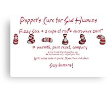 Poppet's Cure for Sad Humans Canvas Print