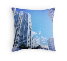 Miami Skies Throw Pillow