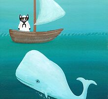 Cat Sailor and the Whale by Ryan Conners