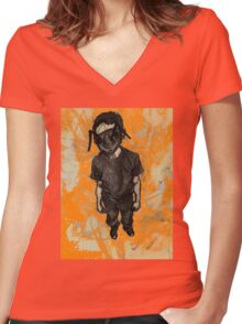 Ant Boy Women's Fitted V-Neck T-Shirt