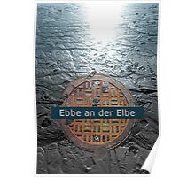 Ebbe an der Elbe | Low Tide at the Elbe Poster