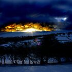 Fire on the Black Hill by gardencottage