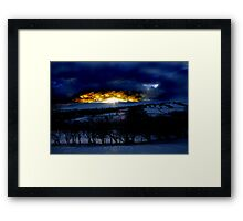 Fire on the Black Hill Framed Print