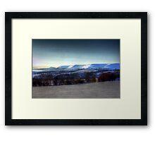 White on the Black Hill Framed Print