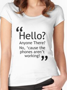 Torchwood - Phones Aren't Working Women's Fitted Scoop T-Shirt