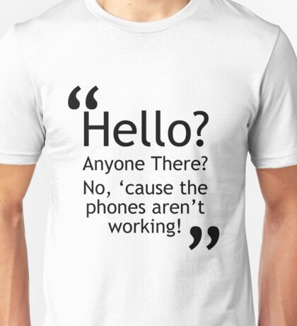 Torchwood - Phones Aren't Working Unisex T-Shirt