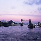 London at dawn - 1 by Barry Robinson