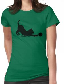 Playful Kitten Womens Fitted T-Shirt