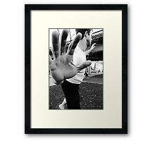 Slacklining Framed Print