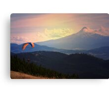 Paragliding near Mt. Hood Canvas Print
