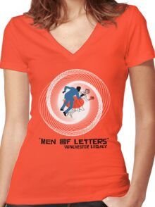 Men of Letters Women's Fitted V-Neck T-Shirt