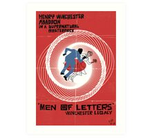 Men of Letters Art Print
