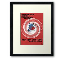 Men of Letters Framed Print