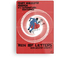 Men of Letters Metal Print