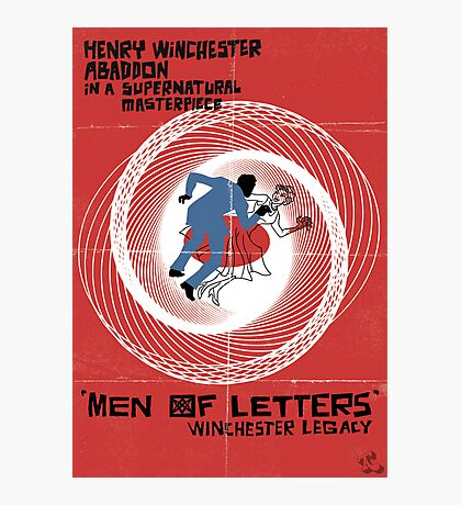 Men of Letters Photographic Print